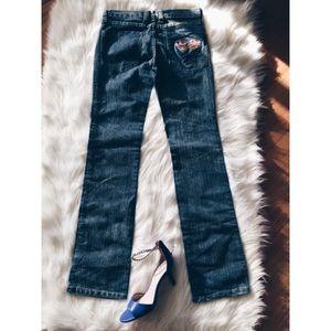 Frankie B. Denim - Frankie B Embroidery Hippie Patch Denim Jeans 6