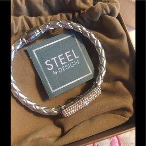 steel by design Jewelry - Steel by Design bracelet w/ crystal accent.