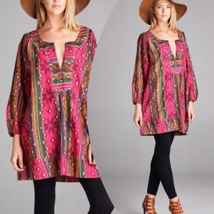 tla2 Tops - PRETTY MULTI PRINT TUNIC
