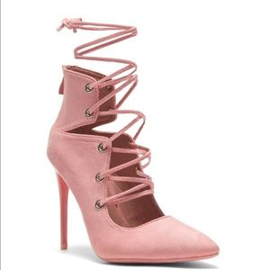 Shoes - Lace up pointy toe stiletto heels