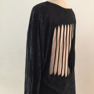 Tops - Long Sleeve Tunic With Cutouts