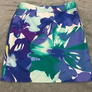 LOFT Dresses & Skirts - Loft watercolor floral pencil skirt