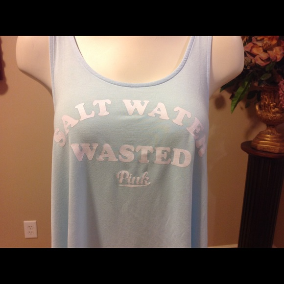 Salt Water Wasted Ocean Beach Womens Tank Top T-Shirt | eBay