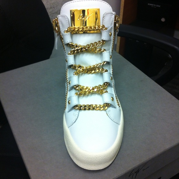 Giuseppe Zanotti Sneakers With Gold