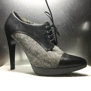 Guess Shoes - Guess Leather and Tweed Oxford Platform Heels