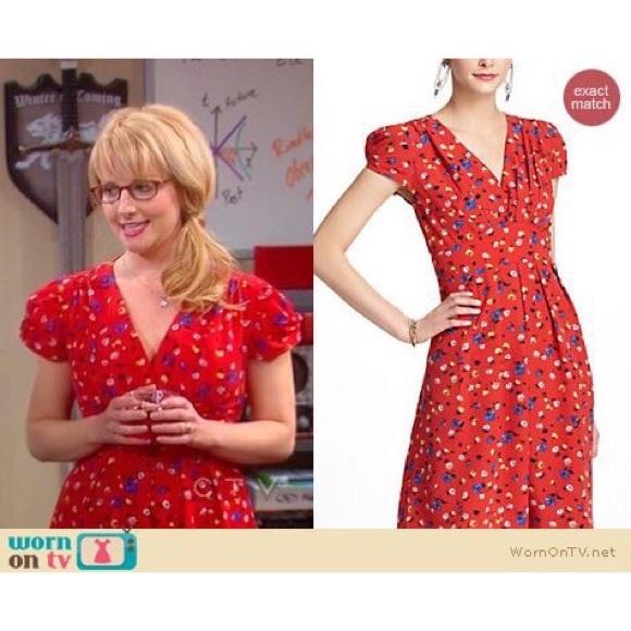57b5fa71baf3 Anthropologie Dresses & Skirts - Retro Red Floral Anthropologie Basque Dress