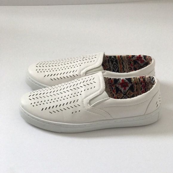 97 shoes new white vegan slip on sneakers from