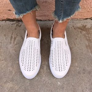 Shoes - Restocked! White Vegan Slip On Sneakers