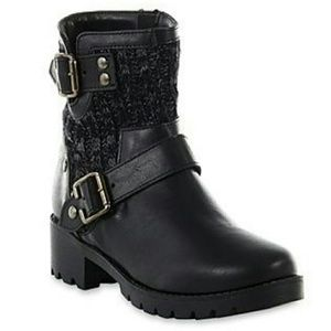Route 66 Shoes - Wilshire Black Motorcycle Boot