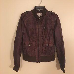 vintage Jackets & Blazers - Vintage Boho Vegan Leather Bomber Biker Jacket
