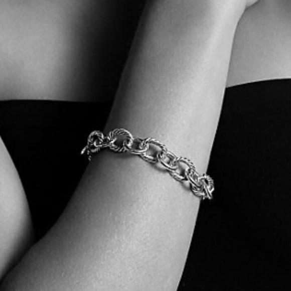 47c3e4de5d4e9 David Yurman large oval link bracelet