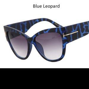 Brand new Leopard Cat Eye sunglasses vintage Retro