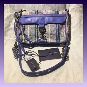 Rebecca Minkoff Handbags - Rebecca Minkoff Blue Mini Mac Discolored