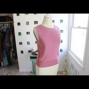 Mauve Sleeveless Sweater Shell