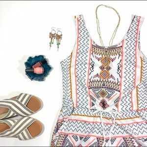 Pants - Tribal Print Romper