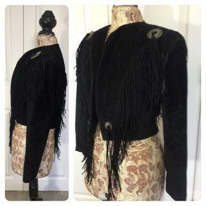 Scully Jackets & Blazers - Vintage Suede Fringe trimmed jacket
