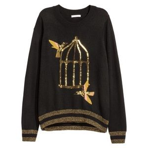 Sequined Bird Sweater