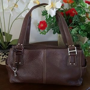 Fossil Leather Shoulder Bag