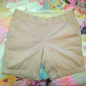 J. Crew Pants - J Crew Classic Twill Dusty Pink Chino Shorts