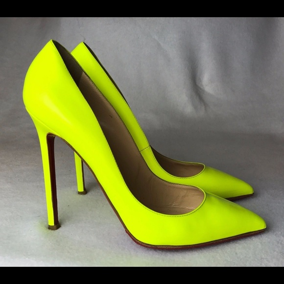 b239136434d Louboutin Pigalle 120 Neon Pumps 38.5 RESERVED