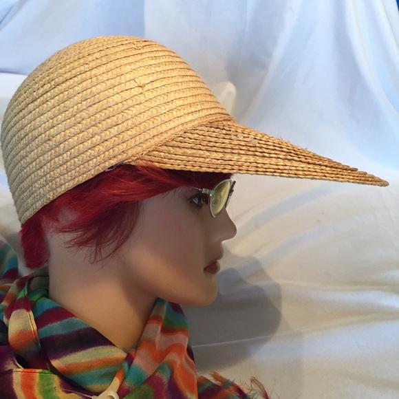 Long bill Straw hat baseball cap Vintage retro. M 58e4ff4813302a05d8005359 aef4667f0ef