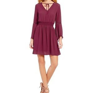 Collective Concepts Dresses & Skirts - Smoked Waist Tie Neck dress