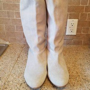 ZARA gray suede boots