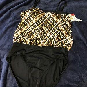 Jantzen Other - Jantzen Tummy Control Swimsuit, SZ 14 NWT