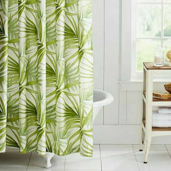Pottery Barn Palm Frond Shower Curtain