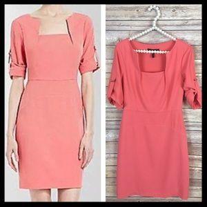 bcbgmaxazria // coral anouck square neck dress