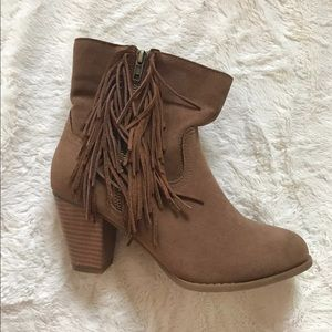 Rampage fringe booties, size 7