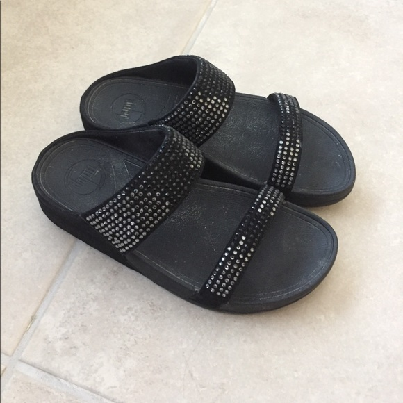 be708f3502fa FitFlop Shoes - FitFlop Women s Flare Slide Sandal Black Sz ...