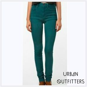 Urban Outfitters Denim - BDG Teal High Waist skinny Jeans