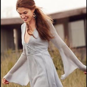 Anthropologie Belled Peasant Dress by Ghost