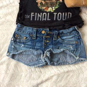 True Religion Pants - True Religion Cut-off Jean Shorts Size 26