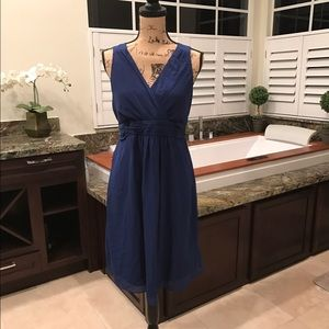 Sale! Navy Chiffon Maternity Dress