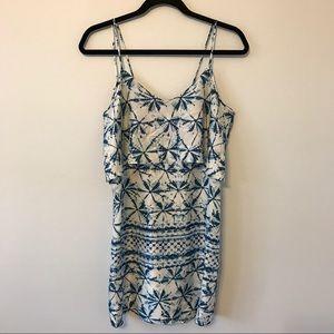 Rory Beca Dresses & Skirts - Rory Beca silk blue & white cami dress