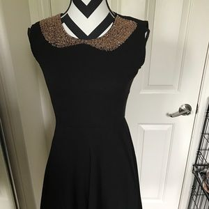 Maison Jules dress. Black with beading.