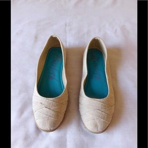 Blowfish Shoes - Spectacular Ivory Flat Loafers