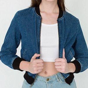 AA Angeleno Denim jean bomber jacket