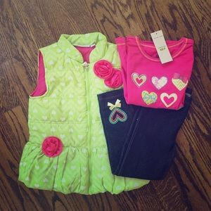 Kids Headquarters Other - NWT Vest + Tee + Jeggings