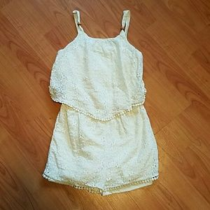 my Michelle  Other - My Michelle girls ivory lace romper ADORABLE