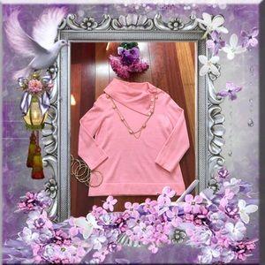Jones New York Sweaters - Jones NY Cashmere Button Cowl Neck Sweater