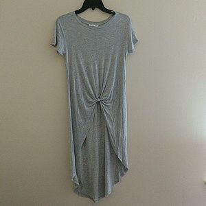 Zara knotted front high low tunic top