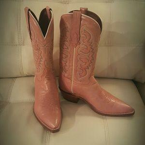 Tony Lama Shoes - Tony Lama💖Pink Cowboys Boots