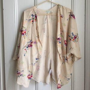 Floral Print Shrug/Kimono
