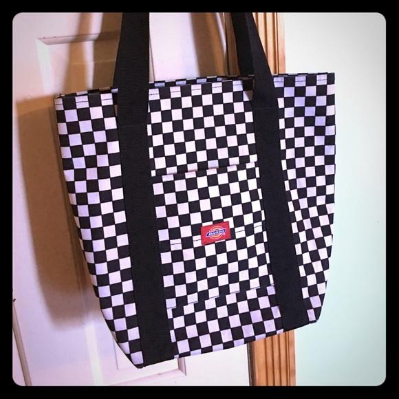 2b57994df Dickies Bags | Checkered Canvas Tote Bag | Poshmark