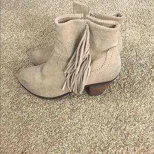 Shoes - Sand Fringe Booties