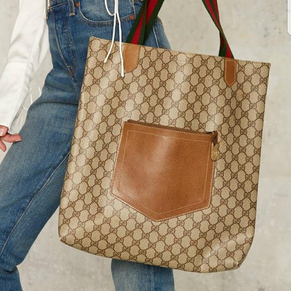 17640ced0e84 Gucci Bags   Vintage Giovanna Leather Tote   Poshmark