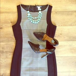 H & M Houndstooth Black and White Dress
